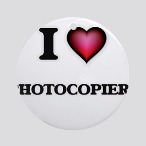 I Love Photocopiers Round Ornament