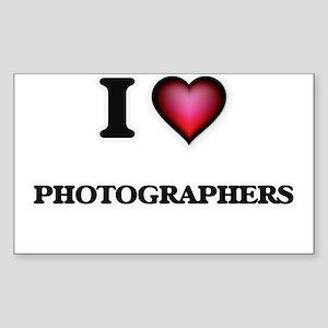 I Love Photographers Sticker