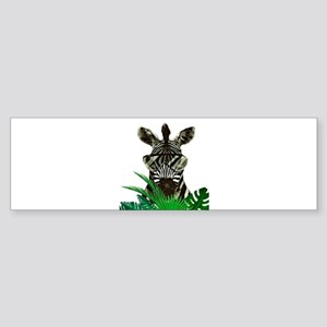 Hipster Zebra Bumper Sticker