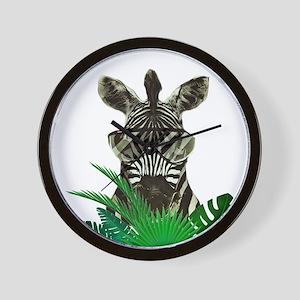 Hipster Zebra Wall Clock