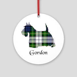 Terrier-Gordon dress Round Ornament