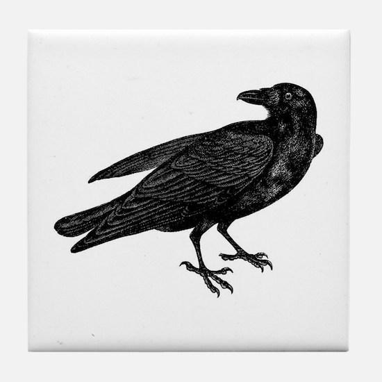 Black Crow Tile Coaster
