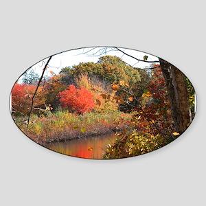 Cape Cod Fall Sticker (Oval)