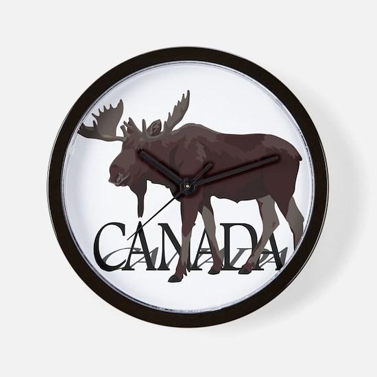 Canada Moose Souvenirs Wall Clock