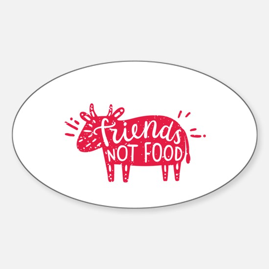 animals are friends not food Decal