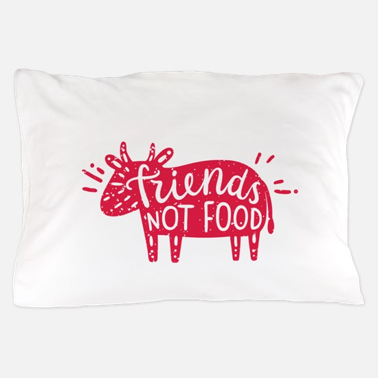 animals are friends not food Pillow Case