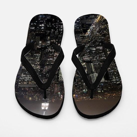 New York Souvenirs Empire State NYC Sky Flip Flops