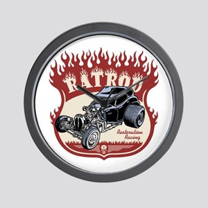 Rat Rod 1 Wall Clock