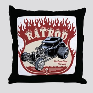 Rat Rod 1 Throw Pillow