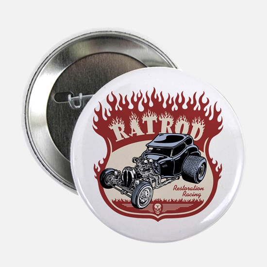 """Rat Rod 1 2.25"""" Button"""