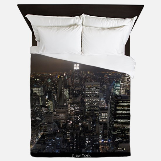 New York Souvenirs Empire State NYC Sk Queen Duvet