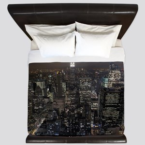 New York Souvenirs Empire State NYC Sky King Duvet