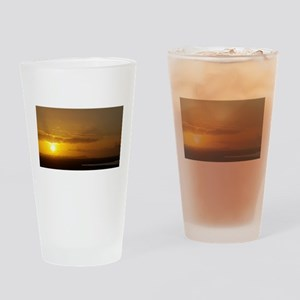 Sunrise over Honolulu Drinking Glass