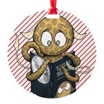 Little Moon Round Ornament (candy Cane)