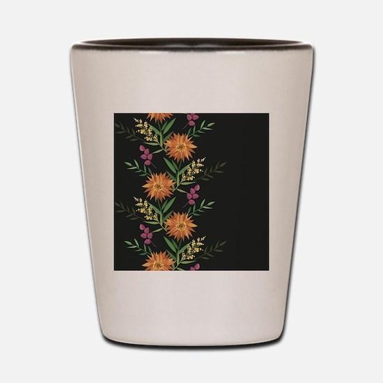 Autumn Flowers Shot Glass