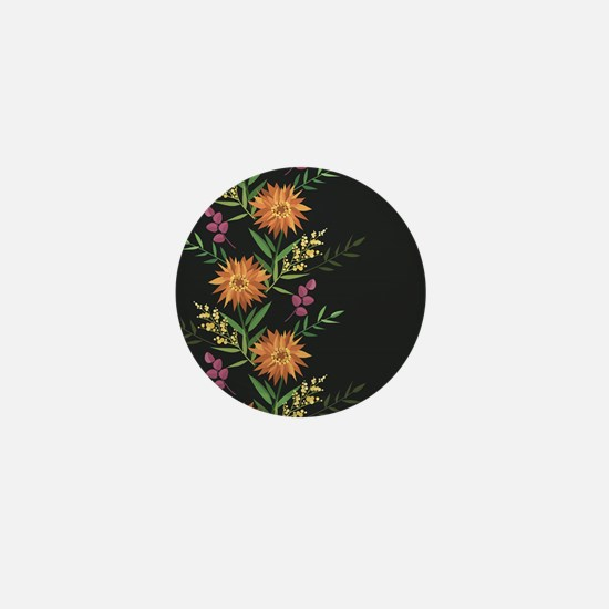 Autumn Flowers Mini Button