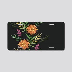 Autumn Flowers Aluminum License Plate
