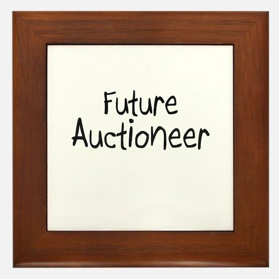 Future Auctioneer Framed Tile