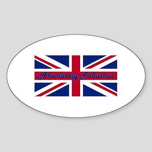 Absolutely Fabulous Oval Sticker