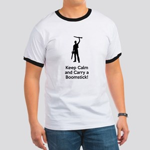 Keep Calm and Carry a Boomstick Wht T-Shirt