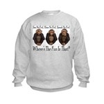 No Evil, No Fun Kids Sweatshirt