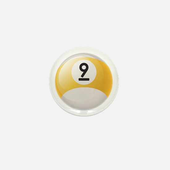 Billiard Pool Ball Mini Button