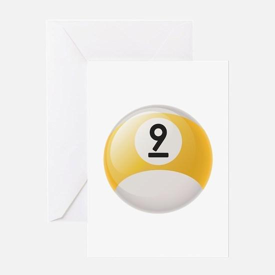 Billiard Pool Ball Greeting Cards