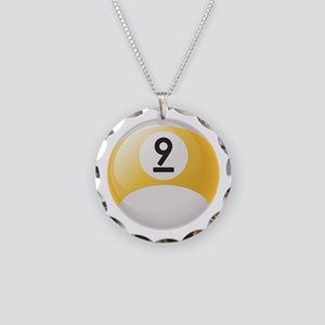 Billiard Pool Ball Necklace Circle Charm