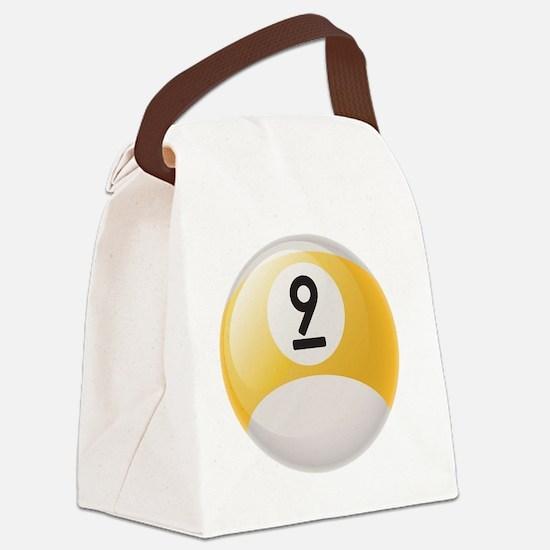 Billiard Pool Ball Canvas Lunch Bag
