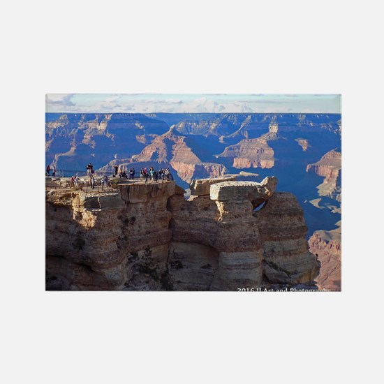 Grand Canyon Viewing Point Rectangle Magnets