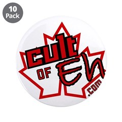 """Cult Of Eh Logo 3.5"""" Button (10 Pack)"""