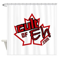 Cult of Eh Logo Shower Curtain