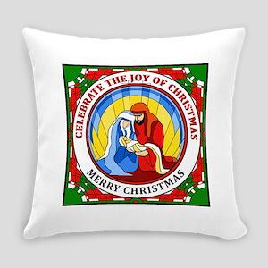 Christmas Joy Merry Christmas Everyday Pillow