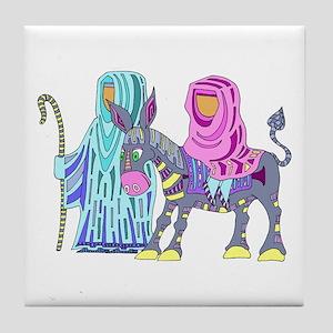 Christmas Donkey Tile Coaster
