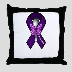 Fibromyalgia Spoonie Throw Pillow