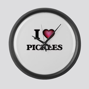I Love Pickles Large Wall Clock