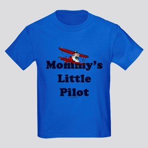 Mommy's Little Pilot Kids Dark T-Shirt