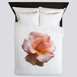 Peach Wild Rose Queen Duvet