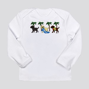 labradors go to beach Long Sleeve T-Shirt