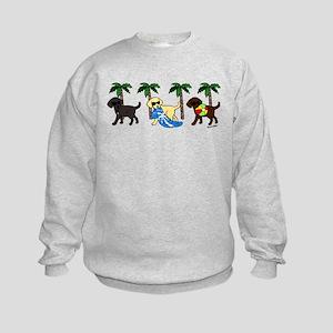 labradors go to beach Sweatshirt