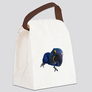 Blu the Hyacinth Macaw Canvas Lunch Bag