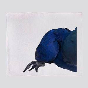 Blu the Hyacinth Macaw Throw Blanket
