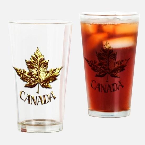 Gold Canada Souvenir Drinking Glass