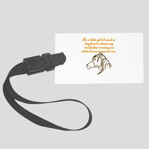 As a little girl I used to daydr Large Luggage Tag