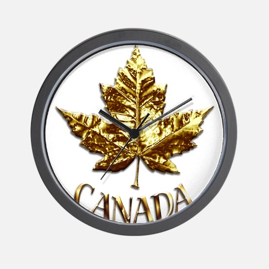 Gold Canada Souvenir Wall Clock