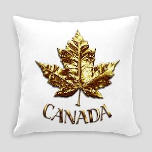 Gold Canada Souvenir Everyday Pillow