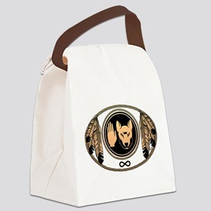 Metis Flag Native Wolf Art Canvas Lunch Bag