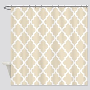 Moroccan Quatrefoil Pattern: Muslin Shower Curtain