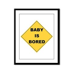 Baby Is Bored Framed Panel Print