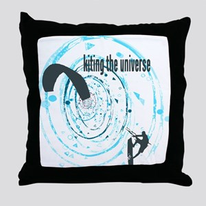 Kitesurfing The Universe Throw Pillow